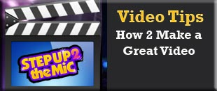 Video tips for the singing contest.